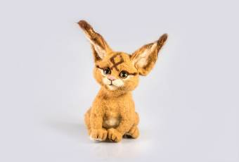 Baby lynx. Toy handmade to order