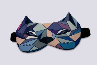 Winterra. The Legend of the Magic Land Wolf Sleeping Mask