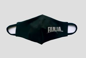 Protective mask with logo brand Film.ua