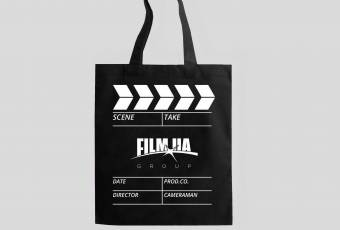 Eco-Friendly Shopping Bag FILM.UA with a Clapperboard Print