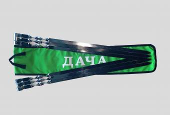 Set of Skewers With a Logo of The DACHA TV Channel