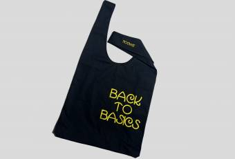 "Shopper bag with embroidery ""Back to basics"""