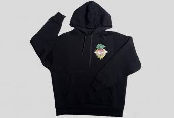 "Hoodie with the logo ""Everything is gonna be borsch"", black"