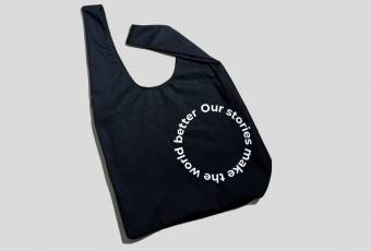 "Shopper bag ""Our stories make the world a better place"""