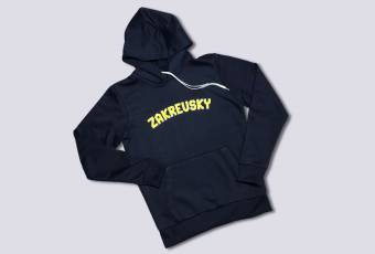"The stylis ""ZAKREVSKY 22"" hooded hoodie, dark blue"