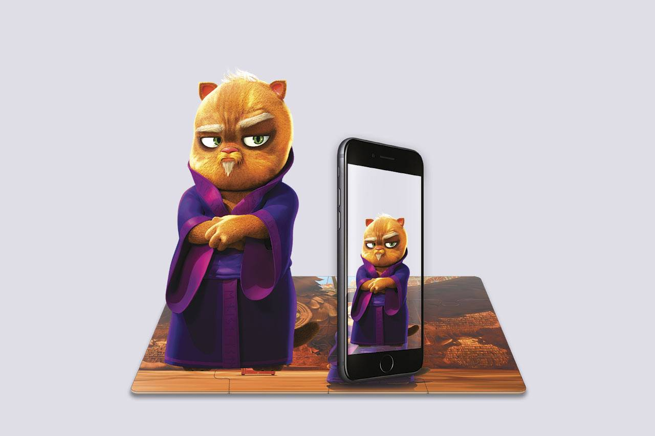 Augmented Reality Puzzle «Wise Cat»