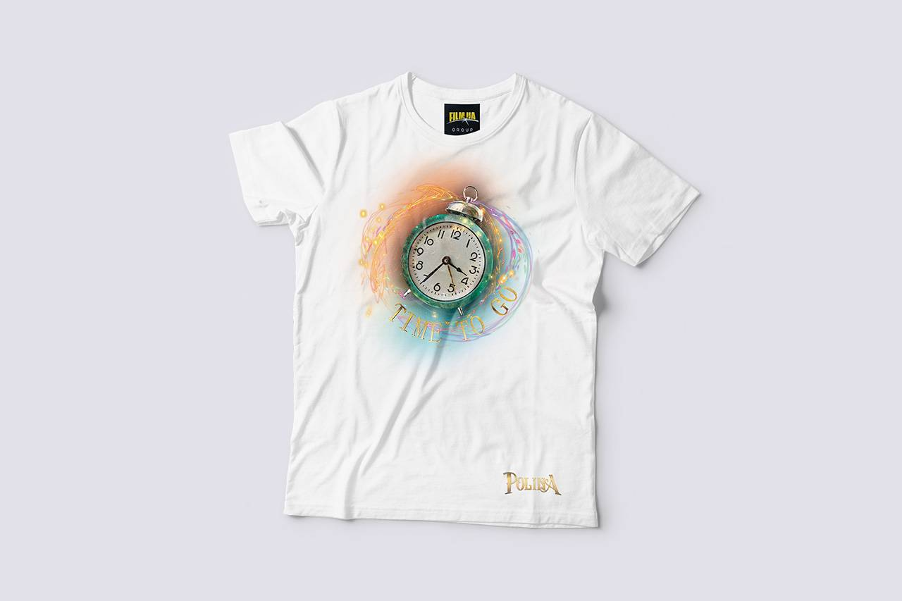 'Polina' Alarm Clock T-shirt white