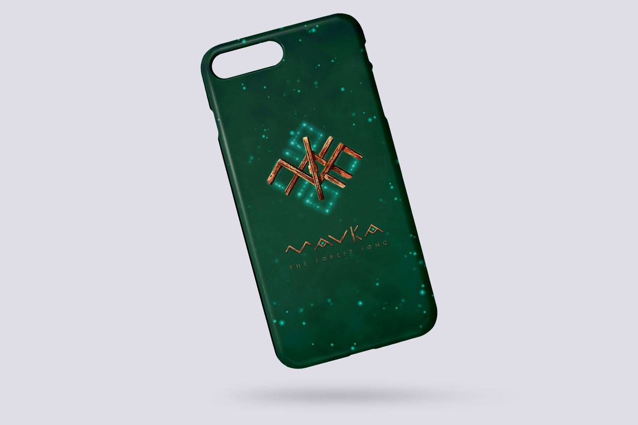 MAVKA AR Phone Case with a Magical Rune