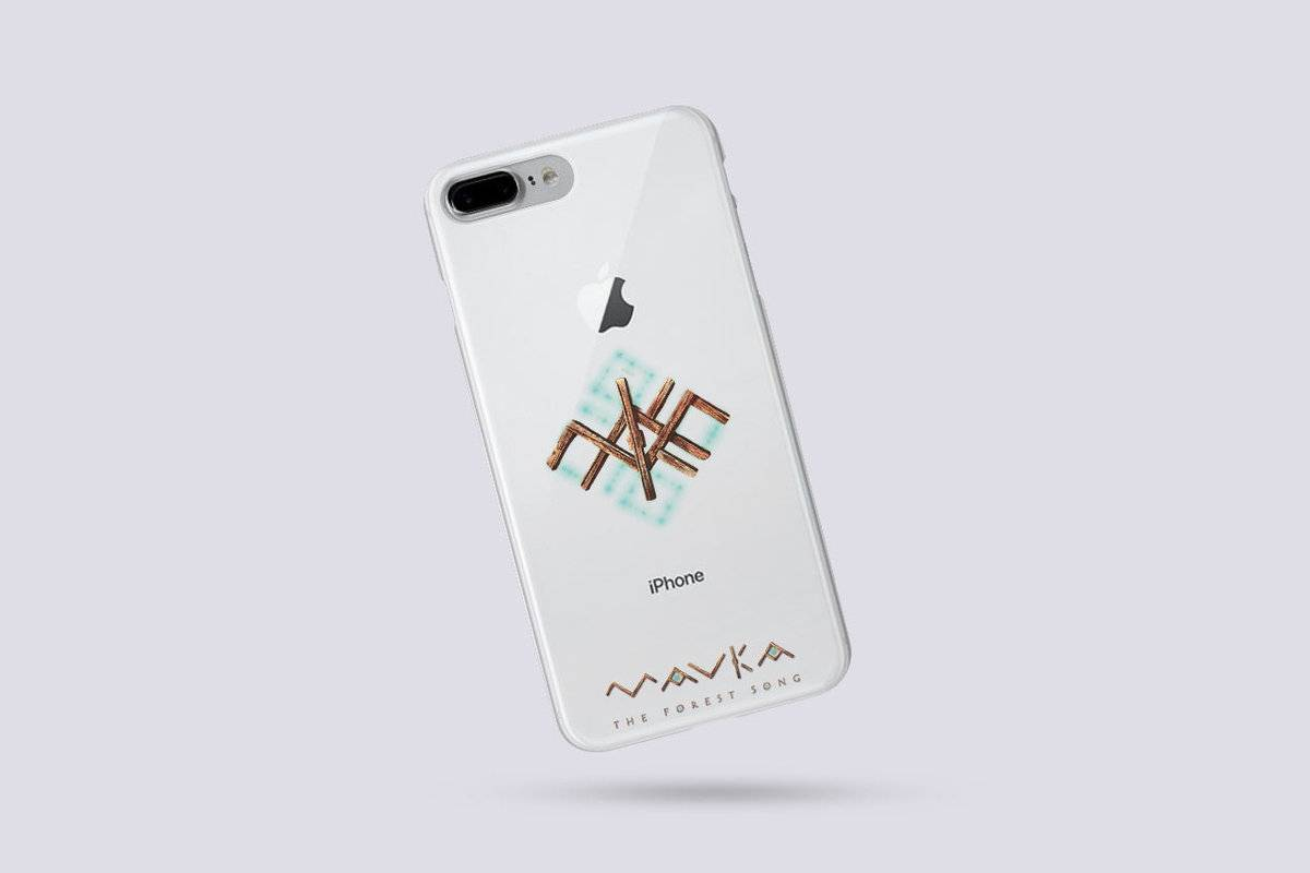 Transparent MAVKA AR Phone Case with a Magical Rune